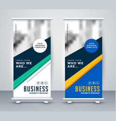 abstact geometric rollup banner design vector image