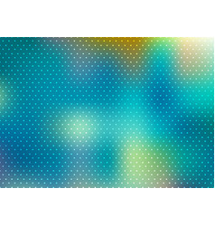 abstract blue blurred background with polka dots vector image