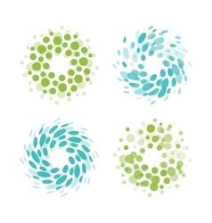 Abstract circle logotype set Green and blue vector image