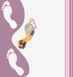 abstract footprints background vector image