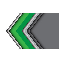 Abstract green white arrow direction with grey vector