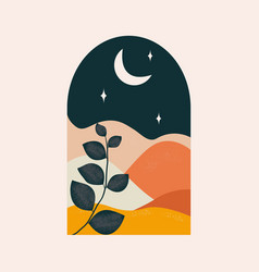 abstract landscape at night vector image