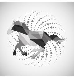 Animal design mosaic icon Isolated vector image