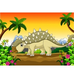 Ankylosaurus Dinosaur cartoon for your design vector image