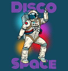 Astronaut dancing disco funny vector