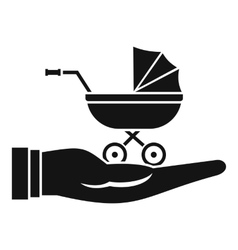 Baby pram protection icon simple style vector image