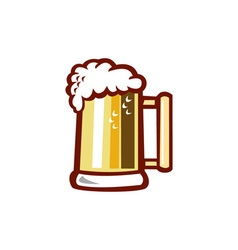 Beer Stein Isolated Retro vector