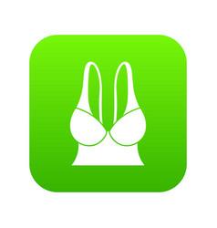 big sports bra icon green vector image
