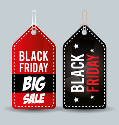 black friday promotion label vector image