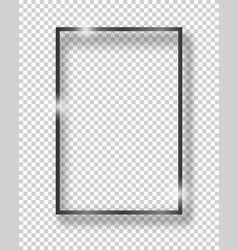 Black shiny vintage square frame isolated on vector