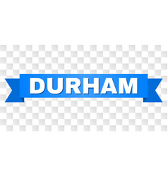 Blue tape with durham text vector