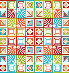 Bright seamless geometric pattern vector image