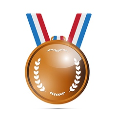 Bronze Medal Award Isolated on White Background vector image