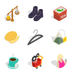 Bulk purchase icons set isometric style vector