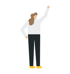 business woman with his raised hand vector image