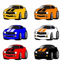Camaro mini cars vector