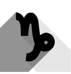Capricorn sign black icon vector
