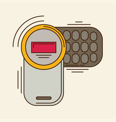 Cell phone flat icon vector