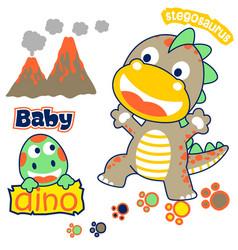 Cheerful little dinosaurskids t shirt design vector