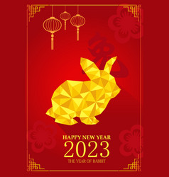 chinese new year design for year of rabbit vector image