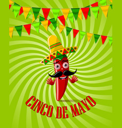 cinco de mayo celebration card or poster festival vector image