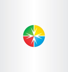 circle arrow target point icon vector image