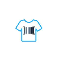 Cloth barcode logo icon design vector
