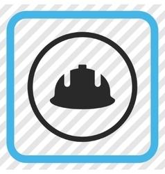 Construction Helmet Icon In a Frame vector