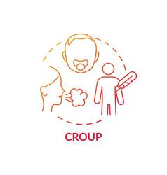 Croup concept icon vector