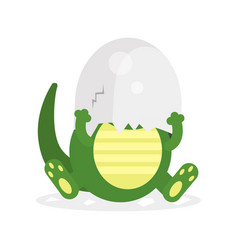 cute newborn crocodile character funny reptile in vector image