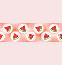 Cute watermelon polka dot vector