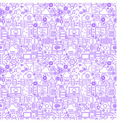 data science line seamless pattern vector image