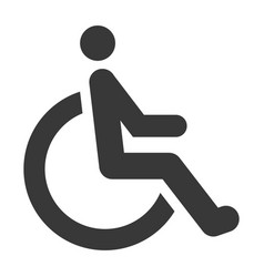 disabled black icon special rehabilitation and vector image