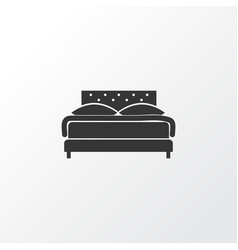 double bed icon symbol premium quality isolated vector image