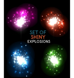Explosion with sparkles design collection vector