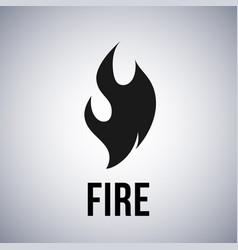 fire flame logo icon vector image