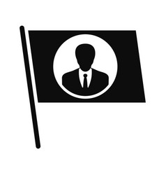 flag vote candidate icon simple style vector image