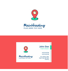 flat map pointer logo and visiting card template vector image