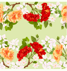 floral border seamless background horizontal vector image
