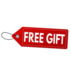 Free gift label or price tag vector