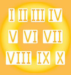 golden roman numerals golden radiant vector image