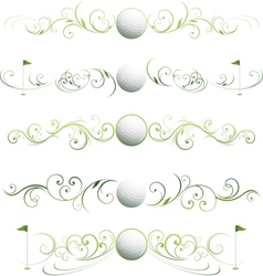 golf floral banners vector image