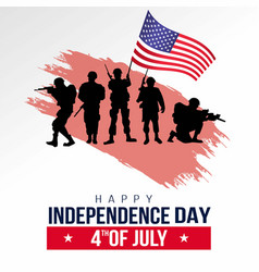 Happy independence day america american army vector