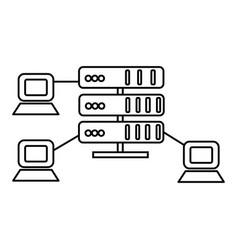 hostingnetwork servers line icon sign vector image