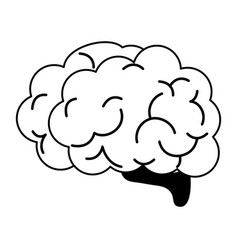 Human brain icon image vector