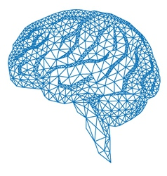 human brain with geometric pattern vector image