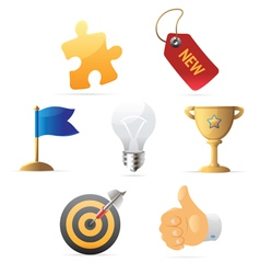 Icons for business metaphor vector image