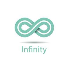 infinity symbol logo vector image