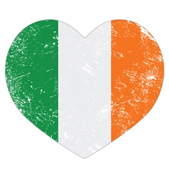 Ireland heart retro flag St Patricks Day vector