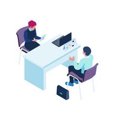 Job interview icon vector